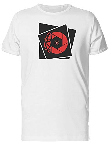 Camiseta masculina Fragmented Red Shutter, Branco, M