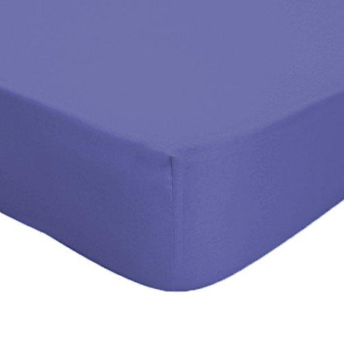 Musbury tessuti lusso policotone facile manutenzione caravan angoli per taglio a destra e sinistra, isola letto e trasversale, Mid Blue, Island Bed