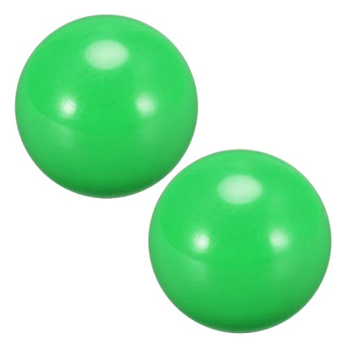 uxcell Joystick Ball Top Handle Rocker Round Head Arcade Fighting Game DIY Parts Replacement Green 2Pcs