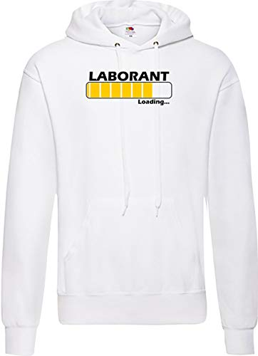Shirtinstyle Homme à Capuche Chargement Laborant Occupation - Blanc, XL
