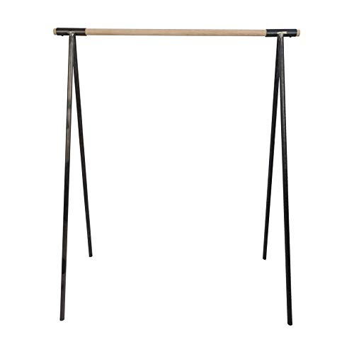Natural Goods Berlin Kleiderständer Gard Design Garderobe freistehend | Metall Kleiderstangenhalterung für 30mm Rundstab | Massiv Holz stabil | DIY (100cm Kleiderstange Eiche, Industrial)