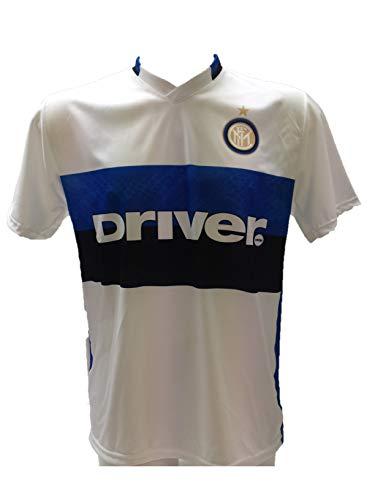 DND DI D'ANDOLFO CIRO Maglia Calcio Inter Bianca Neutra Senza Stampa sul Retro Replica Autorizzata 2015-2016 Taglie da Bambino (12 Anni)