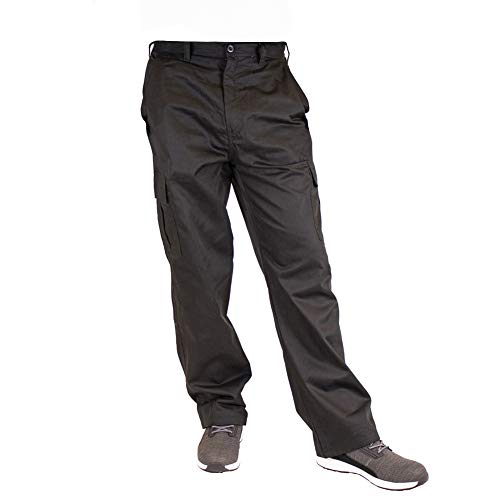 Lee Cooper Mens Classic Workwear Pant Cargo Trouser Black 34W/29L (Short)