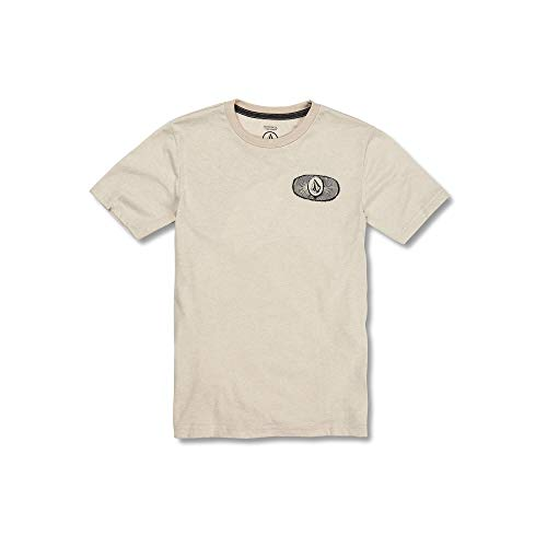 Volcom Big Boys Stone Alias Modern Fit Short Sleeve Tee, Oatmeal, Medium