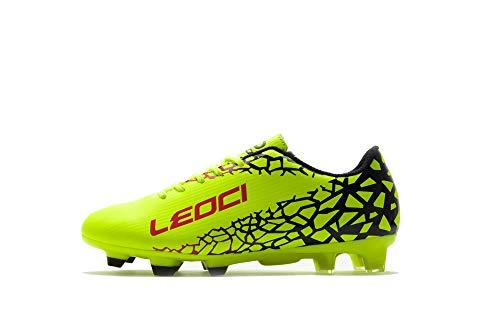 LEOCI Fußballschuhe – Sportliche Fußballschuhe für Herren und Jungen, Outdoor-Fußballschuhe