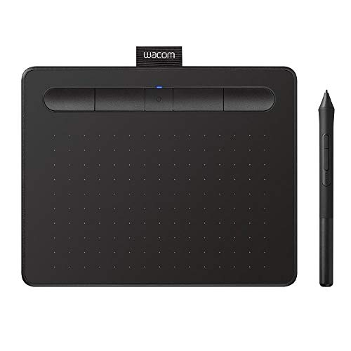 Wacom CTL4100WLK0 Intuos Wireless Graphics Drawing Tablet with Software Included, 7.9' X 6.3', Black