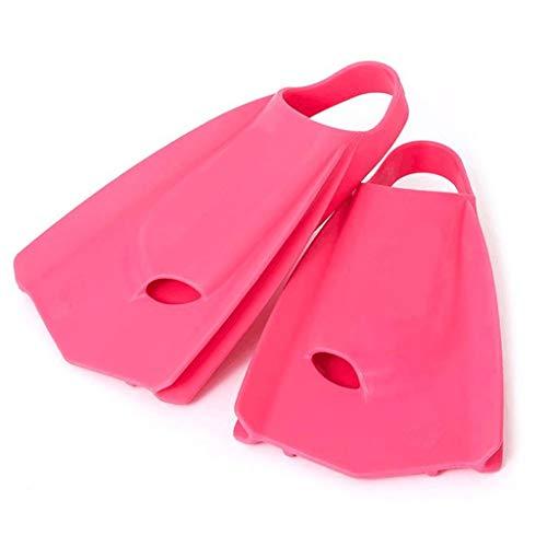 KQHSM Buceo natación Aletas Cortas de Silicona Formación de Adultos Equipo de natación de Silicona Profesional Aletas de Buceo (Color : Pink, Size : 40-41)