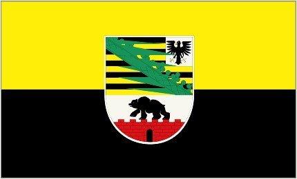 Deutsch Deutschland Sachsen-– Anhalt Flagge 5'x3'