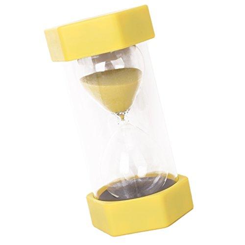 1/15/20/30/45/60 Minuten Sechseckig Sandglass Sanduhr Dekoration Timer für Kochen, Maske, Yoga, Spielen, Zähneputzen - Gelb 20 Minuten