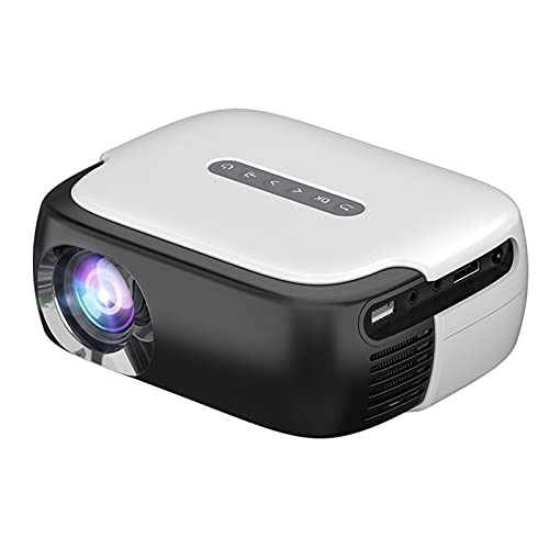 GAOword Mini LED Portable Movie Projector 640 * 360 Pixels with HDMI/USB/AV/Audio Interface for Home Theater Entertainment