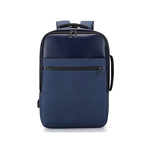 Kfhfhsdgsamsjb Nuevo Oxford Hombres PORTÁTIL COMPUTADORA PORTÁTIL MAYORÍA Moda Viaje Viaje MASCULAR DE LA Escuela Mujer DE USB Mochila de Carga (Color : Blue)