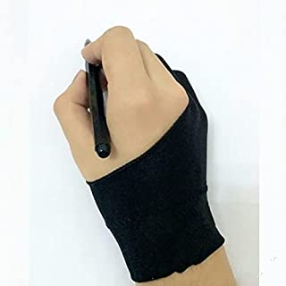 TATUE - Pen refill - 1Pcs Women Men Right Left Hand Artist Drawing Glove for Any Graphics Drawing Tablet Black 2 Finger An...