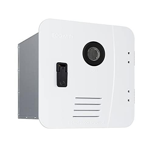 FOGATTI Tankless RV Water Heater Propane On Demand Camper Hot Water Heater 12V 2.2GPM, 55,000BTU...