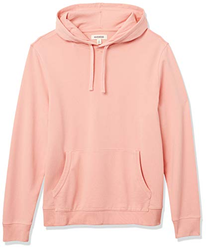 Amazon Brand - Goodthreads Men's Lightweight French Terry Pullover Hoodie Sweatshirt, Coral, Large