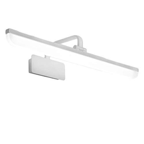 Badspegel ljus Mirror front ljus ledde badrum ljus dressing bordslampa spegelskåp belysning (Color : Warm white light, Size : L80CM(15W))