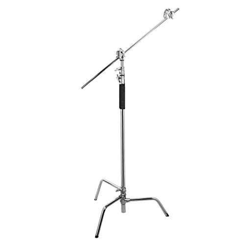 Flashpoint 10' C (Century) Light Stand on Turtle Base Kit w/40 Grip Arm & 2 GOBO Heads and Baby Pin - Chrome