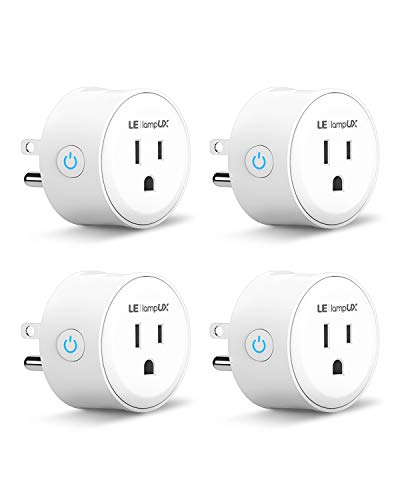 Smart Plug, WiFi Smart Socket, WiFi Outlet Works with Alexa & Google Assistant, Remote Control Your Appliances with App and Voice Command, No Hub Required, 2.4GHz WiFi Only(Pack of 4)
