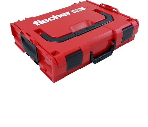 Fischer L-BOXX FLB 102 Valigetta Porta Attrezzi Impilabile e Agganciabile, Cassetta Utensili Espandibile, Vuota, Compatibile per Sortimo, 508136
