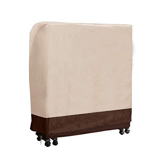 Funda de almacenamiento para cama de invitados Fushida, cubierta antipolvo, funda plegable a prueba de suciedad, beige, 85Lx33Wx106.6H CM