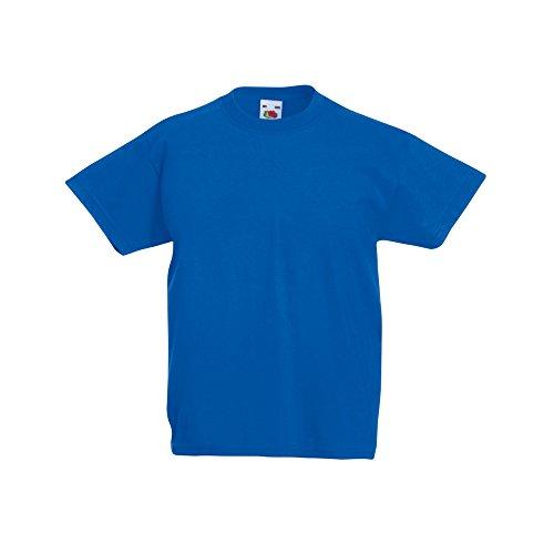 Fruit of the Loom - Camiseta de Manga Corta Original niños (12-13 años/Azul eléctrico)