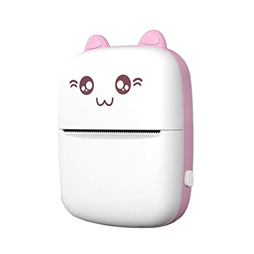 ASPZQ Portable Thermal Printer for Mobile Phone Android IOS Wireless Bluetooth Pocket Photo Printer Home/Student Use Print Tool (Color : Pink)