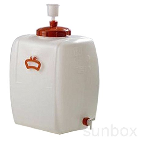 Sunbox - Tanica fermentatore birra, serbatoio per fermentazione da 110 l, ermetico, con rubinetto e valvola a pressione
