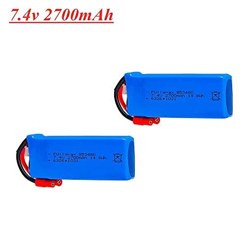 V-MAXZONE 2S 7.4V 2700mAh Lipo Batteria per syma X8C X8W X8G Rc Drone Ricambi 7.4V 853480 Batteria spina banana 1pcs a 10pcs (colore : 2 pezzi)