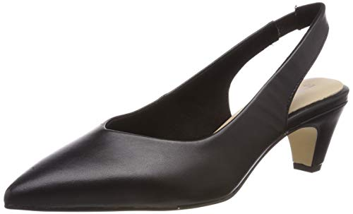 Tamaris Damen 1-1-29502-22 Slingback Pumps, Schwarz (Black Leather 3), 39 EU