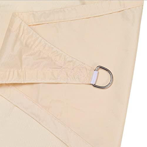 [2021 Modelo] Toldo El Toldo Es Un Triángulo Equilátero, Triángulo De ángulo Derecho Al Aire Libre Impermeable Y Duradero Oxford Twning, Muy Adecuado Para Terraza Al A(Size:4*4*4m ,Color:Blanco crema)