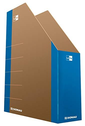 DONAU LIFE 3550001FSC-10 Stehsammler Stehordner Archive Box Pappe/ Karton - Blau| bis zu 500 Blatt Für Büro, Schule und Zuhause zur Aufbewahrung von Dokumenten im A4 Format, Archivierung von Magazinen