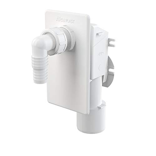 AlcaPlast APS4 Unterputz Gerätesiphon Abwasseranschluss für Waschmaschine, Spülmaschine, Wärmepumpentrockner