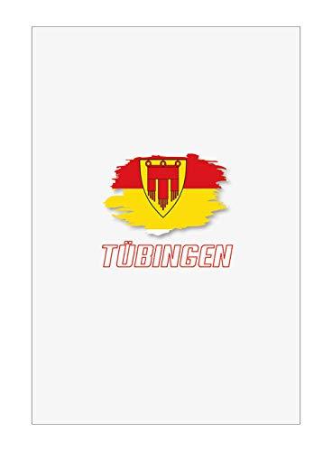 Tipolitografia Ghisleri Handtuch, Strandtuch, Handtuch TUBINGEN mit Flagge 20