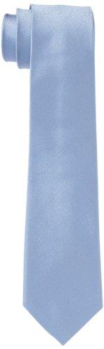 Seidensticker Krawatte 7cm breit einfarbig unifarben modern, Blau (14 uni hellblau), One Size