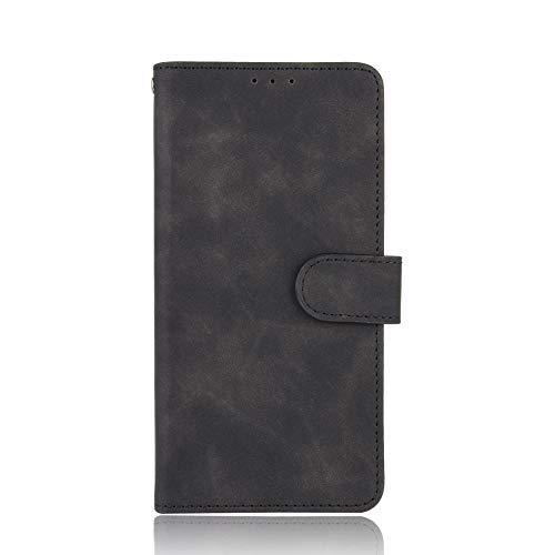 NEINEI Funda para OPPO A74 5G/A54 5G,Premium Flip Billetera Carcasa Libro de Cuero con Ranuras para Tarjetas,Magnético,Stand,Textura de la Piel Teléfono Móvil Cover Case,Negro