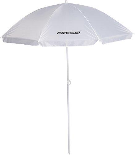 Cressi XVA810030 - Sombrilla Parasol Playa/Terraza/Jardín/Tiempo Libre, sin Bolsa, color Blanco