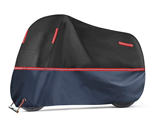 Idefair Fahrradabdeckung,wasserdichte Fahrradabdeckungen Schneeregen UV Windschutz Hochleistungs-Fahrradabdeckung für alle Fahrräder mit Sperrlöchern und...