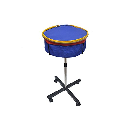 Buy CHAOFAN Professional Multi-ball Storage Zipper Blue Bag with Height Adjustable Movable Stand,Can Hold up to 250 Table Tennis Balls, Pingpong Balls Storage Mesh Basin Collector Equipment for Training