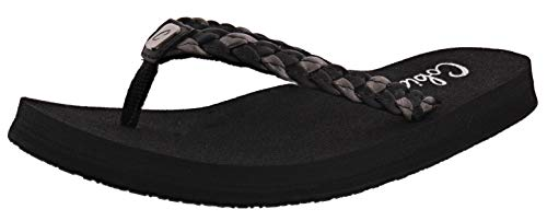 Cobian Women's Heavenly Black Flip Flops, 8
