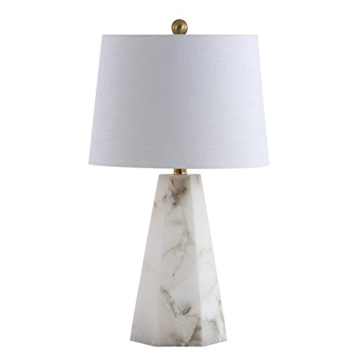 "JONATHAN Y JYL6205A Xio 25.5"" Alabaster LED Table Lamp, Contemporary, Transitional for Bedroom, Living Room, Office, White"