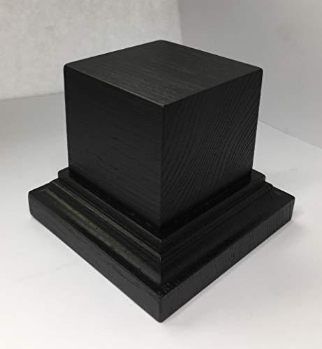 Generisch Holzsockel Esche Schwarz lackiert,8 cm hoch Größe wählbar 110x110 mm (80x80 mm)
