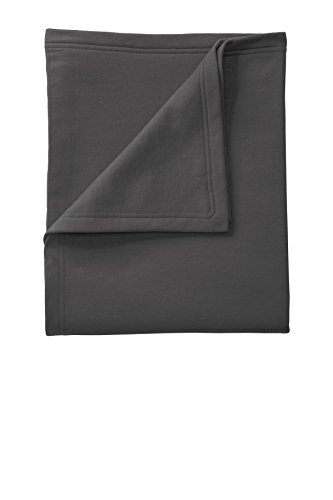 Port & Company Core Fleece Sweatshirt Blanket OSFA Charcoal