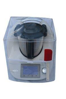 Ma Belle Transparente Schutzhülle für Thermomix TM5/TM31 ohne Varoma-Aufsatz, weiße Naht