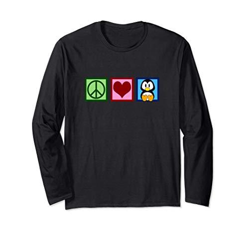 Paz Amor Pingüinos Manga Larga