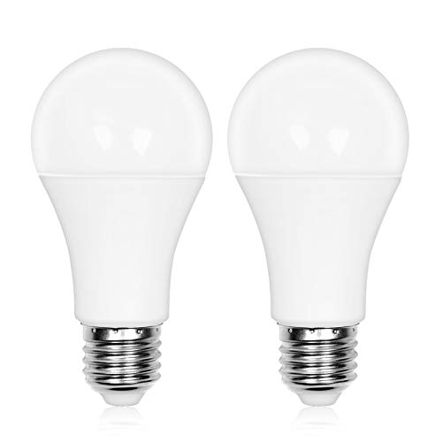 LED電球 センサーライト 明暗センサー電球 (人感センサーなし) 12W 白熱電球100W相当 あかりセンサー 光センサー電球 E26 自動点灯/消灯 常夜灯 非調光 省エネ 電球色 2個セット