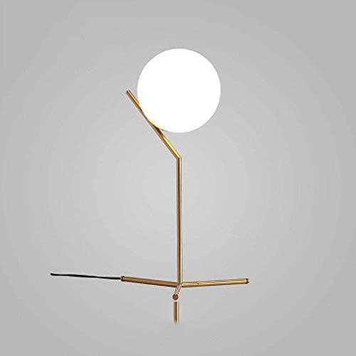 Lampe de Table Décoration, Ronde Balle Cadre en métal Détachable Lampes de lecture, Salon Design Lampe en Architecte Moderne Luminaire Industrielle à Poser, D'or Ø 20 cm