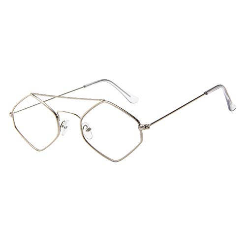 online glasses retailers FORUU Glasses, Women Men Vintage Retro Unisex Rhombus Frame Sunglasses Eyewear