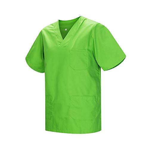 MISEMIYA - Abbigliamento Lavoro Unisex Collo Picco Maniche Corte Uniforme Clinica Ospedale Pulizia Veterinario IGIENE OSPITALITÁ - Ref.817 - X-Small, Apple Green