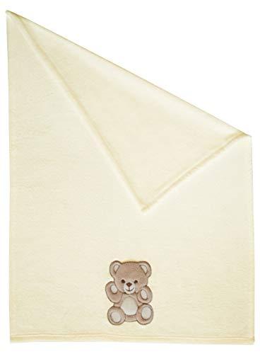 Zollner Manta para bebé, toquilla recién Nacido, 100x75 cm, Beige