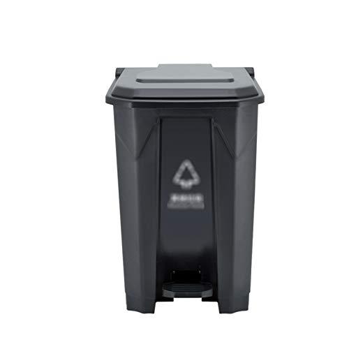 Outdoor trash can CSQ- Bote De Basura Tipo Pedal, Papelera De Reciclaje De Basura Plástica De Cocina Bote De Basura Comercial 80L para Hoteles Park Community School(Color:UN,Size:80L)