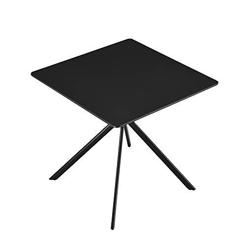 [en.casa] Esstisch - Schwarz 78x78x75cm - Küchentisch Esszimmertisch Besprechungstisch Konferenz-Tisch